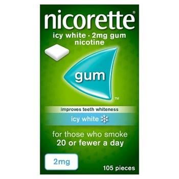 Nicorette® Icy White 2mg Gum Nicotine 105 Pieces
