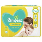 Pampers New Baby Size 2, 31 Nappies, 4kg-8kg, Carry Pack