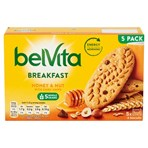 Belvita Breakfast Biscuits Honey & Nuts with Choc Chips 5 Packs 225g