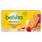 Belvita Breakfast Biscuits Duo Crunch Strawberry and Live Yogurt 5 Packs 253g