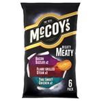 McCoy's Meaty Variety Multipack Crisps 6 Pack