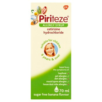 Piriteze Allergy Relief Cetirizine Syrup for Kids - 70ml