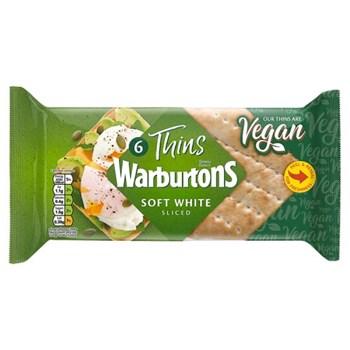 Warburtons 6 Thins Soft White Sliced