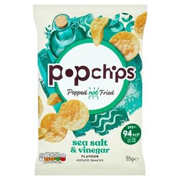 Popchips Sea Salt & Vinegar Sharing Crisps 85g