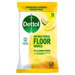 Dettol 10 Antibacterial Floor Wipes Lemon & Lime XL