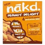 Nakd Peanut Delight Fruit & Peanut Bars 4 x 35g