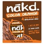 Nakd Cocoa Orange Fruit & Nut Bars 4 x 35g