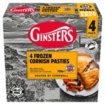 Ginsters 4pk Frozen Cornish Pasty 720g
