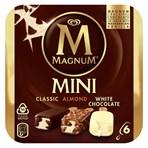 Magnum Classic, Almond & White Ice Cream 6 x 55 ml