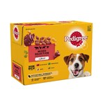 Pedigree Adult Wet Dog Food Pouches Mixed Selection in Jelly 12 x 100g
