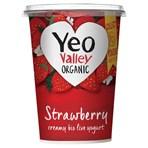 Yeo Valley Organic Strawberry Creamy Bio Live Yogurt 450g