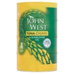 John West Tuna Chunks in Sunflower Oil 4 x 145g