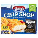 Young's Chip Shop 4 Large Cod Fillets 440g