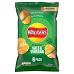 Walkers Salt & Vinegar Multipack Crisps 6x25g