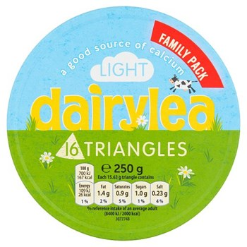 Dairylea Light Cheese Triangles 16 Pack 250g
