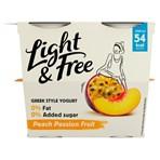 Light & Free Peach Passion Fruit Greek Style Yogurt 4 x 115g (460g)