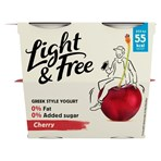 Light & Free Cherry Greek Style Yogurt 4 x 115g (460g)