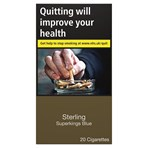 Sterling Superkings Blue 20 Cigarettes