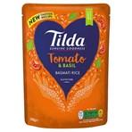 Tilda Microwave Tomato and Basil Basmati Rice 250g