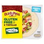 Old El Paso Gluten Free Regular Original Tortillas x6 216g