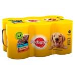 Pedigree Adult Wet Dog Food Tins Mixed in Gravy 6 x 400g