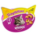 Whiskas Temptations Adult Cat Treat Biscuits with Chicken & Cheese 60g