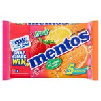 Mentos Fruit Chewy Dragees Rolls 5 x 38g