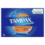 Tampax Compak Super Plus Tampons With Applicator X 18