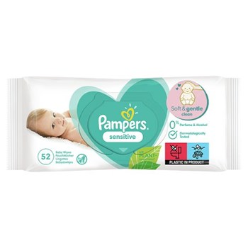Pampers Sensitive Baby Wipes 1 Pack = 52 Baby Wet Wipes