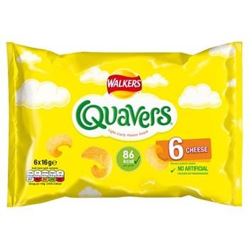 Walkers Quavers Cheese Multipack Snacks 6x16g