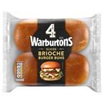 Warburtons 4 Sliced Brioche Burger Buns