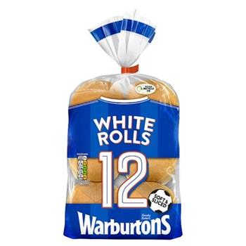 Warburtons 12 Soft White Sliced Rolls