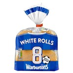 Warburtons 8 Sliced White Rolls