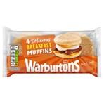 Warburtons 4 English Breakfast Muffins