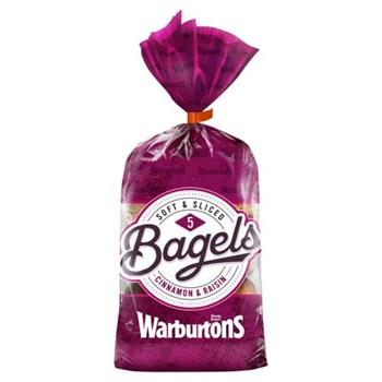 Warburtons 5 Bagels Cinnamon & Raisin