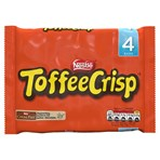 Toffee Crisp Milk Chocolate Bar Multipack 38g 4 Pack