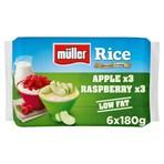 Muller Rice Apple & Raspberry Low Fat Pudding Dessert 6 x 180g