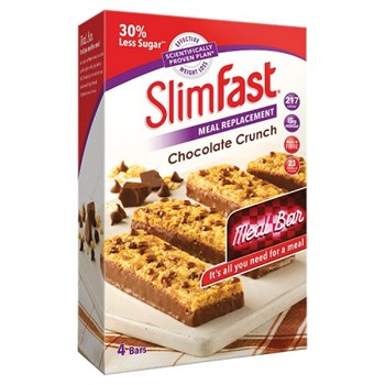 SlimFast® Meal Replacement Chocolate Crunch Meal Bar 4 x 60g (240g)