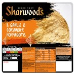 Sharwood's 8 Garlic & Coriander Poppadoms