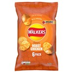 Walkers Roast Chicken Multipack Crisps 6x25g