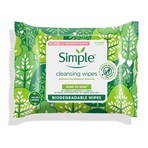 Simple Cleansing Wipes Biodegradable 20 PC