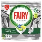 Fairy Platinum All In One Dishwasher Tablets Lemon, 25 Tablets