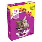 Whiskas Adult Complete Dry Cat Food Biscuits Chicken 825g