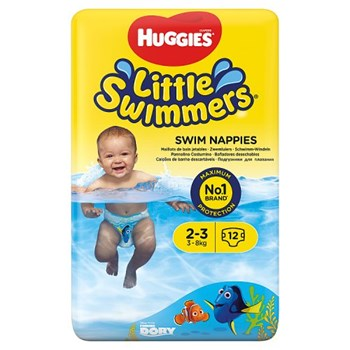 Huggies® Little Swimmers® Swim Nappies Size 2-3 3kg-8kg, 7lb-18lb 12 Pants