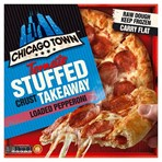 Chicago Town Takeaway Large Tomato Stuffed Crust Pepperoni Pizza 645g