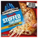 Chicago Town Takeaway Large Tomato Stuffed Crust Cheese Pizza 630g
