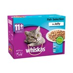 Whiskas Senior Wet Cat Food Pouches Fish in Jelly 12 x 100g