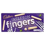 Cadbury Skeleton Fingers White Chocolate Biscuits 114g