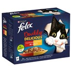 FELIX As Good As It Looks Doubly Delicious Meat Selection in Jelly Wet Cat Food 12 x 100g