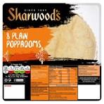 Sharwood's 8 Plain Poppadoms